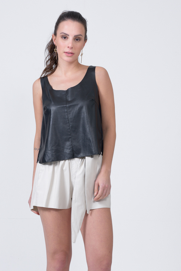TOP CROPPED LEATHER SKIN E INDRYA